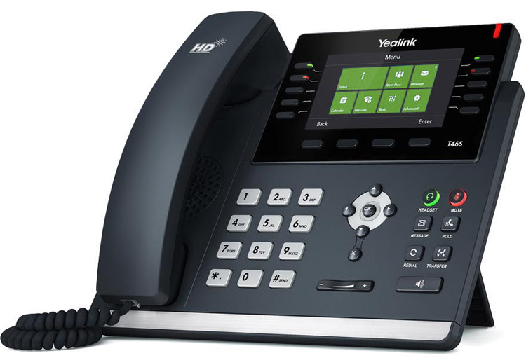 <h4>Enterprise</h4><p>$39.99 per month / per user<br>Incl. Yealink SIP-T46S Desk Phone</p>